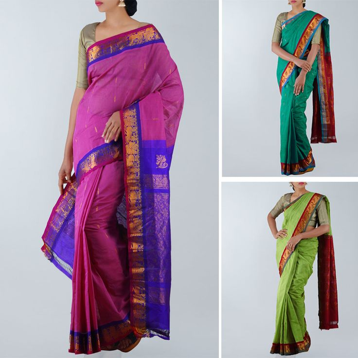 Buy the finest in Gadwal handloom silk cotton pattu wedding sarees online, latest fancy designer sarees at Unnati Silks online| shop exclusively traditional Indian ethnic Gadwal sarees, low priced wholesale, prompt dispatch, free express shipping