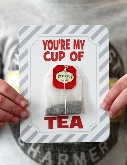 Free Printable Of The Day - The perfect Valentine for a tea-loving teacher, neighbor or friend. Get your free printable from Crafted by Lindy.
