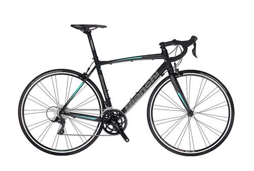 The Via Nirone Sora is an excellent entry level road bike, light weight, made out of aluminium and with Shimano Sora components by Bianchi Bicycles.
