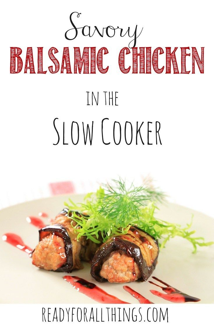 When I want to spice things up with some Italian flavor, I love Savory Balsamic Chicken! The best part is that it only takes 5 minutes to dump the chicken and flavorful goodness into the Crock pot and end up with an easy dinner! This recipe is simple, freezer friendly, and delicious.
