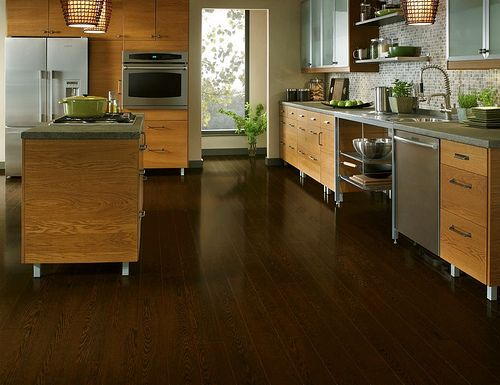 Laminate Flooring In The Kitchen Dark Laminate Flooring With Light Colored Cabinets
