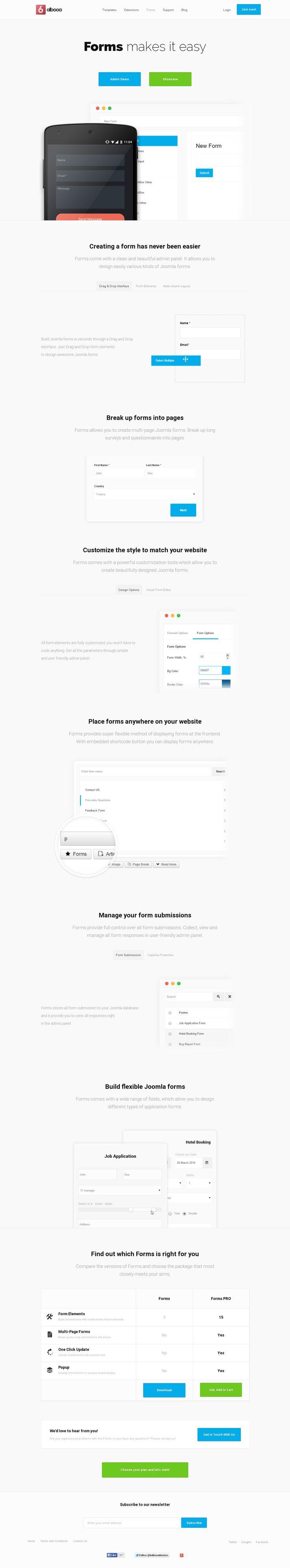 Forms - Joomla Drag and Drop Form builder, Landing Page, Balbooa.com  #landingpage #landingpagedesign #joomla #joomlaforms #forms