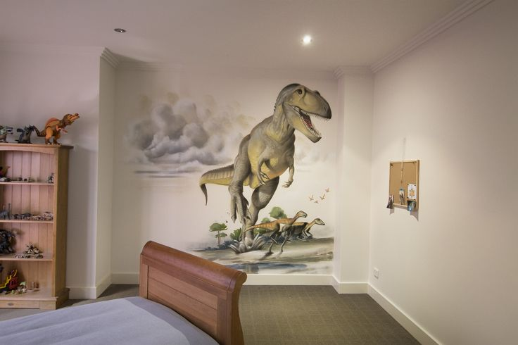 T. Rex Kids Room  #dubiz #custom #interior #mural #spraypaint #aerosol #wall #setitoffdecor #setitoff #sio #graffitiartistmelbourne #graffitimural #graffiti #art #wallart #streetart #graffiti #artistic #design #landscape #urbanart #urbandesign #interiordesign #interiors #homefashion #accessories #design #animals #kidsbedroom #bedroom