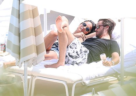Scott Disick Gets Extra Close With Ex Chloe Bartoli on    Pour Courtny,.....How evil to do this for the camera   Vacation - Us Weekly