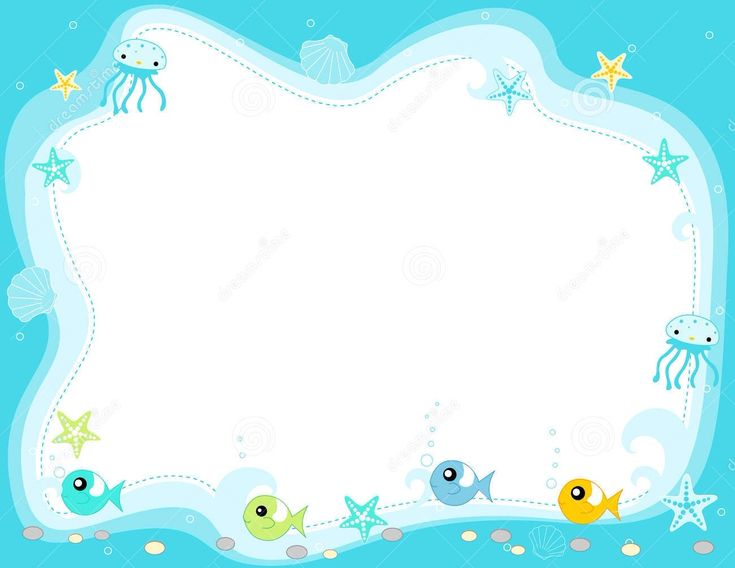 Frame border fish frames borders for Fish photo frame