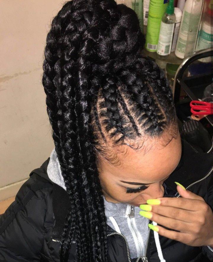 Follow Erikankansah For More Hair Ponytail Styles Braids For Black Hair Natural Hair Ponytail