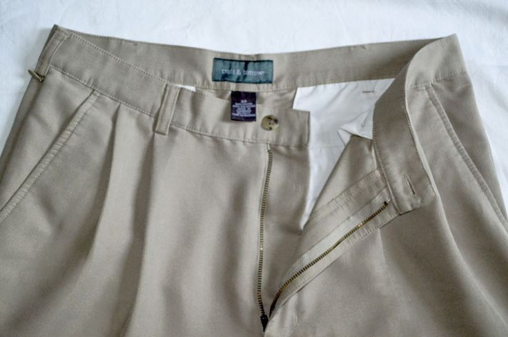 Croft & Barrow Brand Men's Dress Shorts, 34 Waist, Rayon-Polyester Blend, Beige  #CroftBarrow #DressShorts