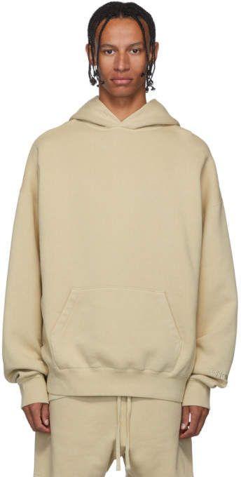 Essentials SSENSE Exclusive Beige Pullover Hoodie