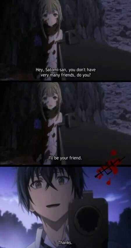 Black bullet. I feel like this pin fails to capture how emotional this scene was