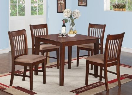 Set Meja Makan Jati Minimalis MMS-005 ini terbuat dari kayu jati berkualitas A dengan foam empuk dibalut jok pada dudukannya.