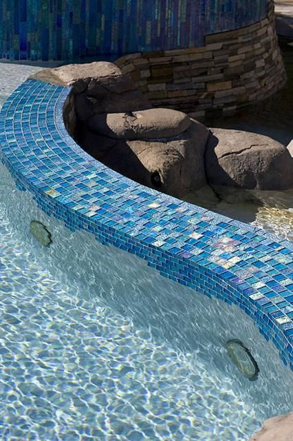 36 best Tiles for a Pool images on Pinterest Glass tiles Pool