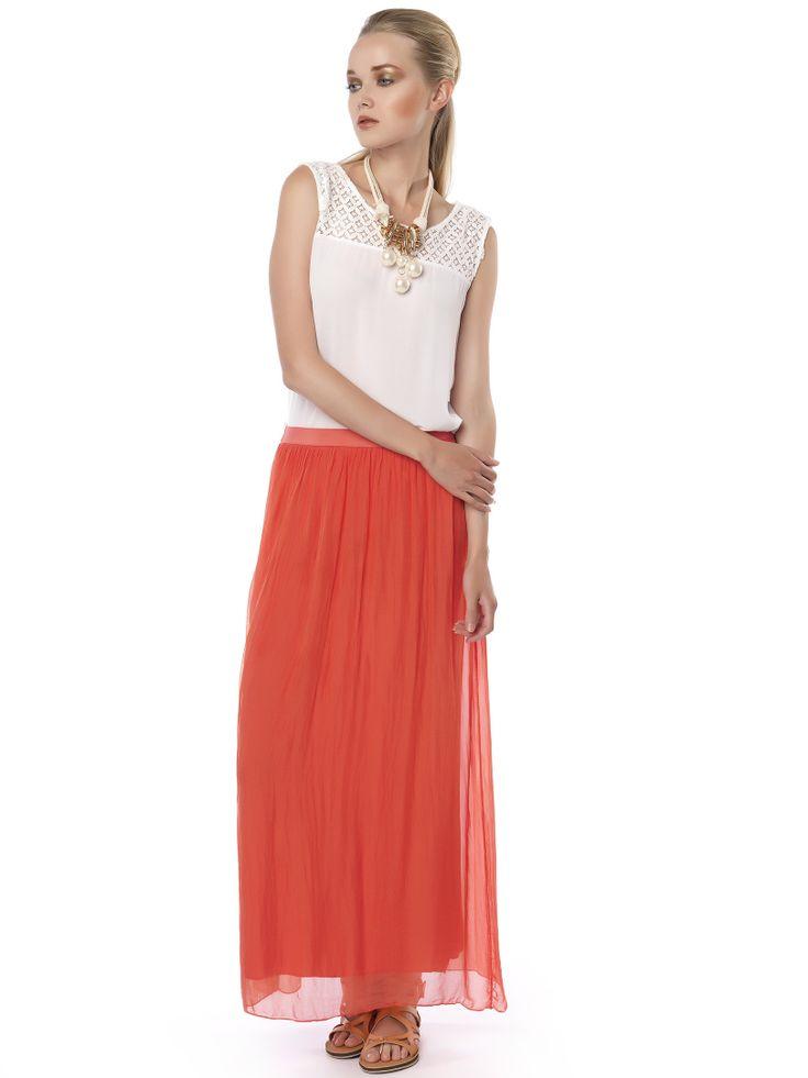 #orange_skirt rock the #weekend_look!