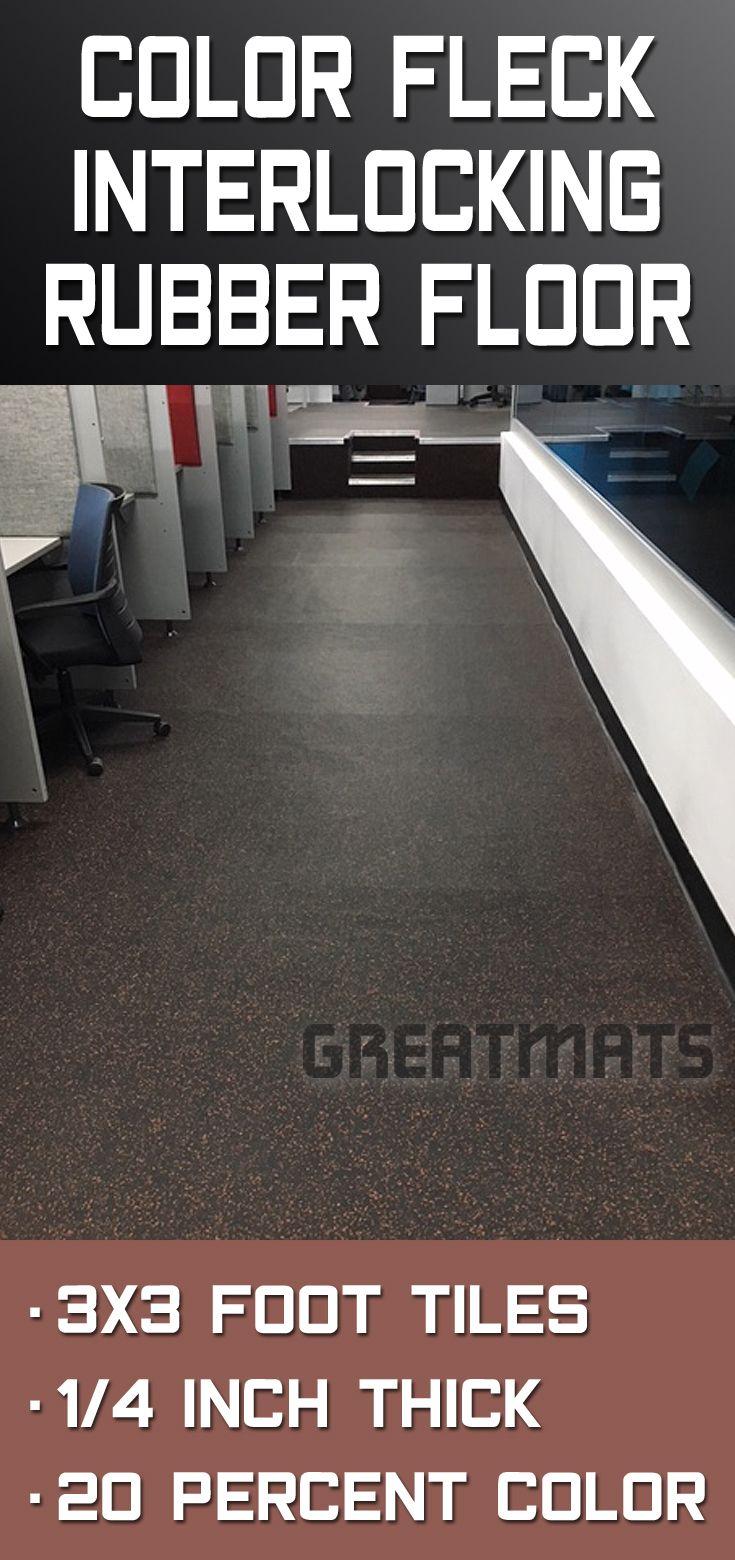 Rubber Floor Tile 1 4 Inch 20 Color Geneva Tile Rubber Floor Tiles Rubber Flooring Rubber Tiles