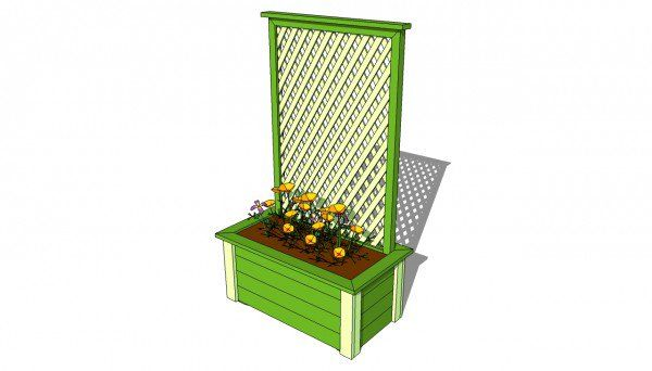 Planter with Trellis Plans | MyOutdoorPlans | Free Woodworking Plans and Projects, DIY Shed, Wooden Playhouse, Pergola, Bbq