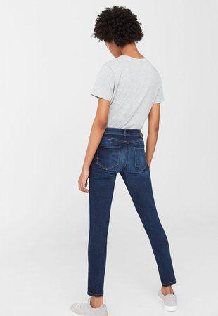 Jeansi push-up albastri ieftini dama Uptown #pantaloni #jeansi #BlugiDama