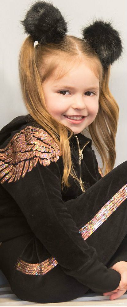 07676920cb1 ANGEL S FACE Girls Velour Sequin Sweatshirt and pants. With rose gold  sequins on the shoulders and back