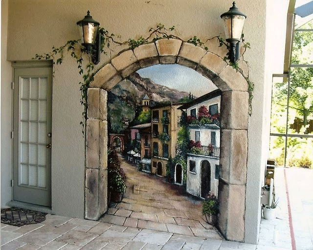 17 best ideas about italian patio on pinterest italian for Cypress gardens mural