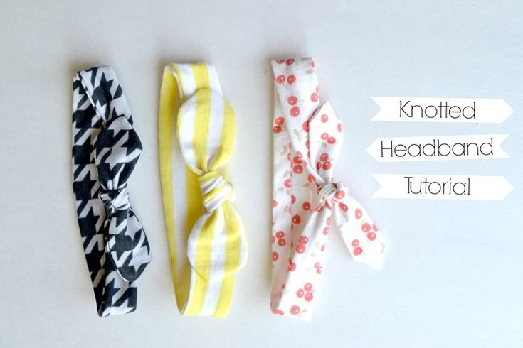 First up is the knotted headband tutorial using KNIT fabric.  I've been seeing these cute little headbands around a bit and wanted to make s...