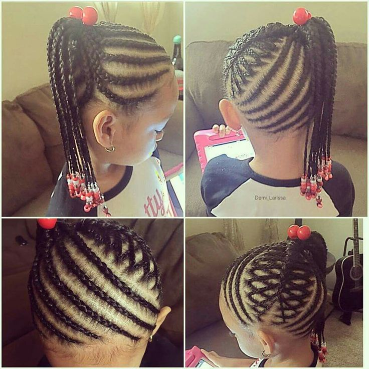 Girls braids and cornrows