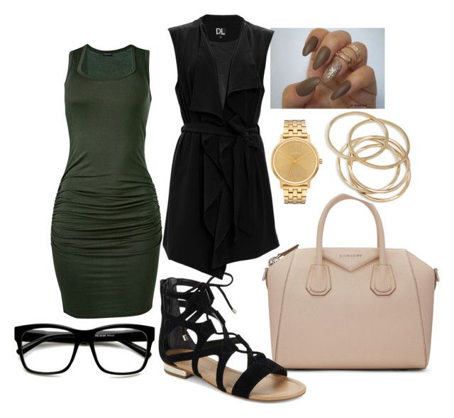 """""""Out For Lunch"""" by malrob on Polyvore featuring Givenchy, Venus, ABS by Allen Schwartz, Nixon, Saks Fifth Avenue and SUGAR LIPS"""