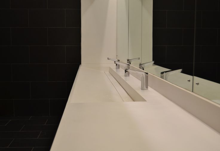 Closer look at the design of our Slope-away vanity