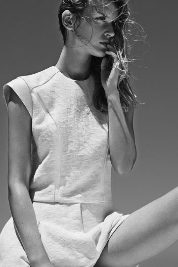 The Australian label Bassike is well known for their structured collections that emulate both minimalism as well as the carefree attitude of beach living. In their Spring Summer 2013 Women's Campaign, each piece appears well tailored while looking relaxed; chic in the minimal palette and elegant in forms and material.