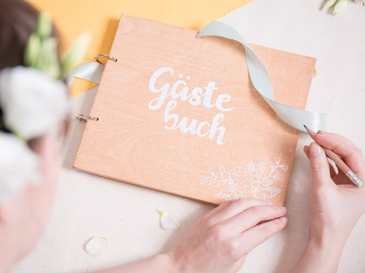 DIY-Anleitung: Gästebuch aus Holz selber machen via DaWanda.com