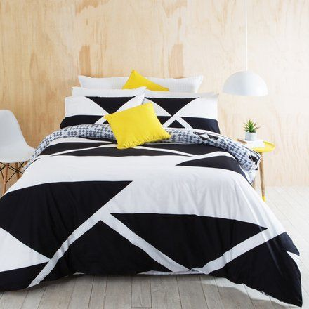 Aspire Bold Geo Quilt Cover Set from pillow talk