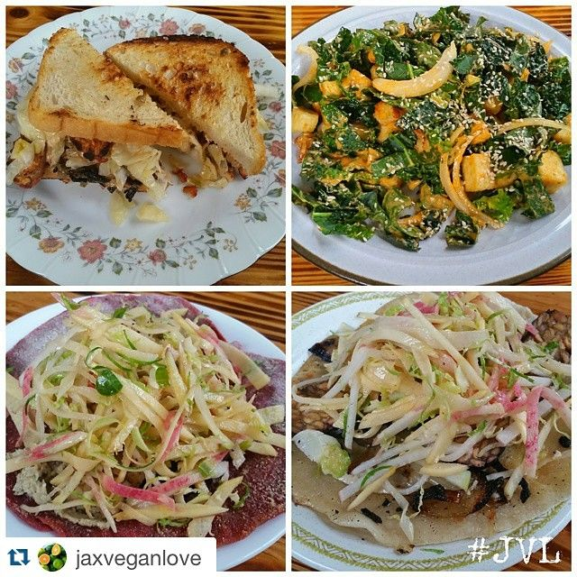 #Repost @jaxveganlove ・・・ Pics from our visit to @yousneakypicle in New Orleans yesterday! We had the Tempeh Reuben ($8), Buffalo Tofu Cauliflower Salad ($9), Beet Flatbread ($4.50), and the Smokey Tempeh Flatbread ($4.50). I'll definitely try to make that salad at home, it was delicious! #JVL #jaxveganlove #jaxtonola #vegannola #veganneworleans #nolafood #sneakypickle