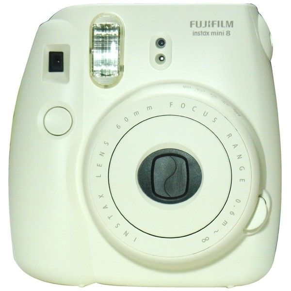 New Model Fuji Instax 8 - White - Fujifilm Instax Mini 8 Instant... ❤ liked on Polyvore featuring fillers, camera, accessories, electronics, tech, detail and embellishment