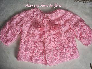 Artes com amor by Geice: casaquinho de trico