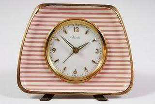 Striped deco clock
