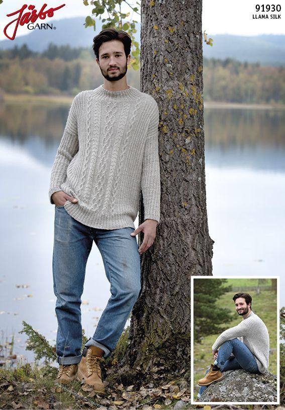 Men's sweater in our Llama Silk.