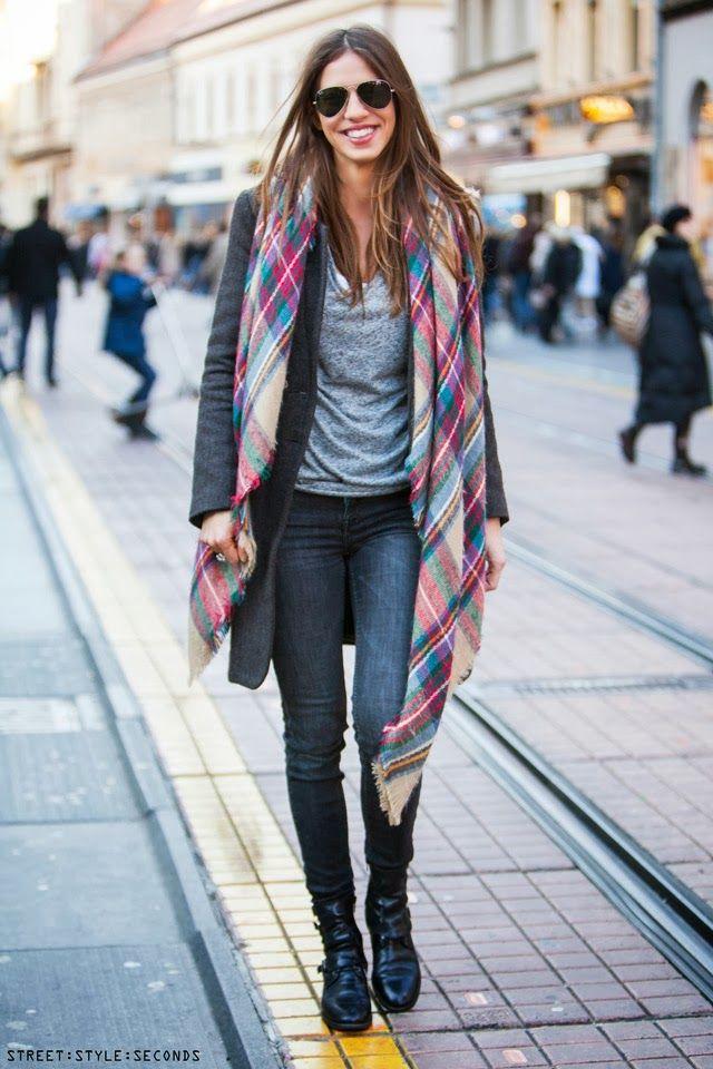 Long #plaid #scarf