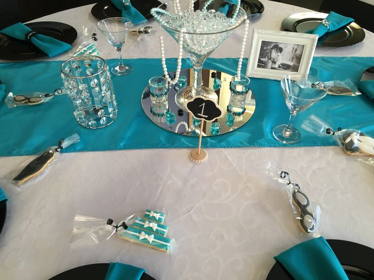 Breakfast at Tiffany's Centerpiece by Mallows & Moët Décor and Events