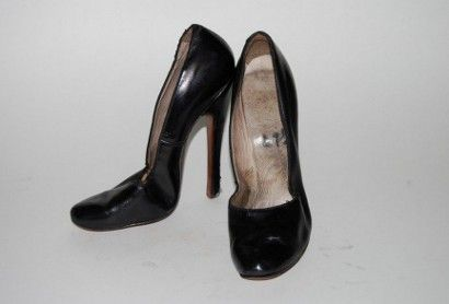A pair of high heeled pumps owned by Bettie Page sold for $10,980 at Guernsey's Auctioneers, April 6, 2013.
