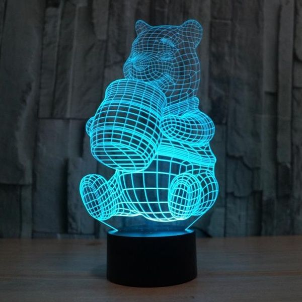 Xinqite Nightlight Winnie The Pooh Colorful 3d Lights Touch Switch Acrylic Lamp 3d Led Lamp Night Light Lamp Lamp