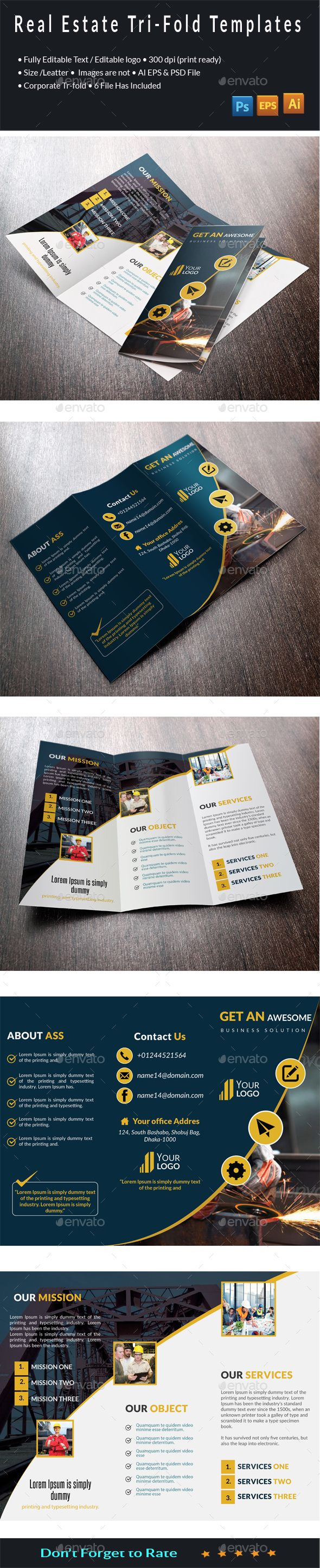 7 best business cards template images on pinterest business card real state tri fold brochure magicingreecefo Image collections