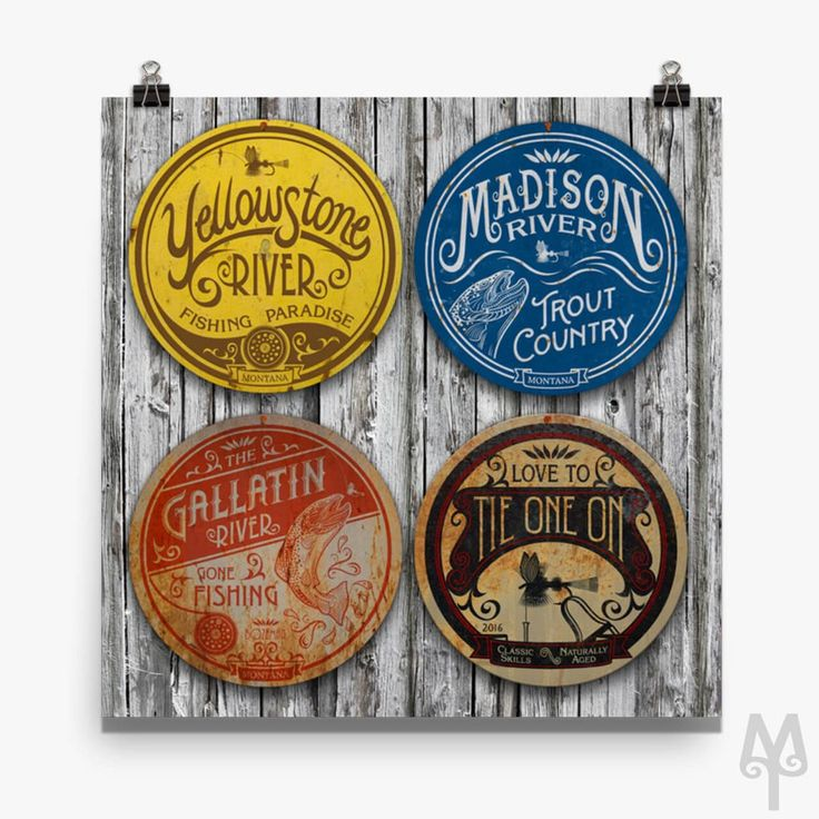 Fishing Montana Wall Signs, poster