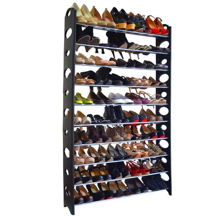 Maison Condelle Studio 707 50 Pair 9 Tier Shoe Rack & Reviews | Wayfair