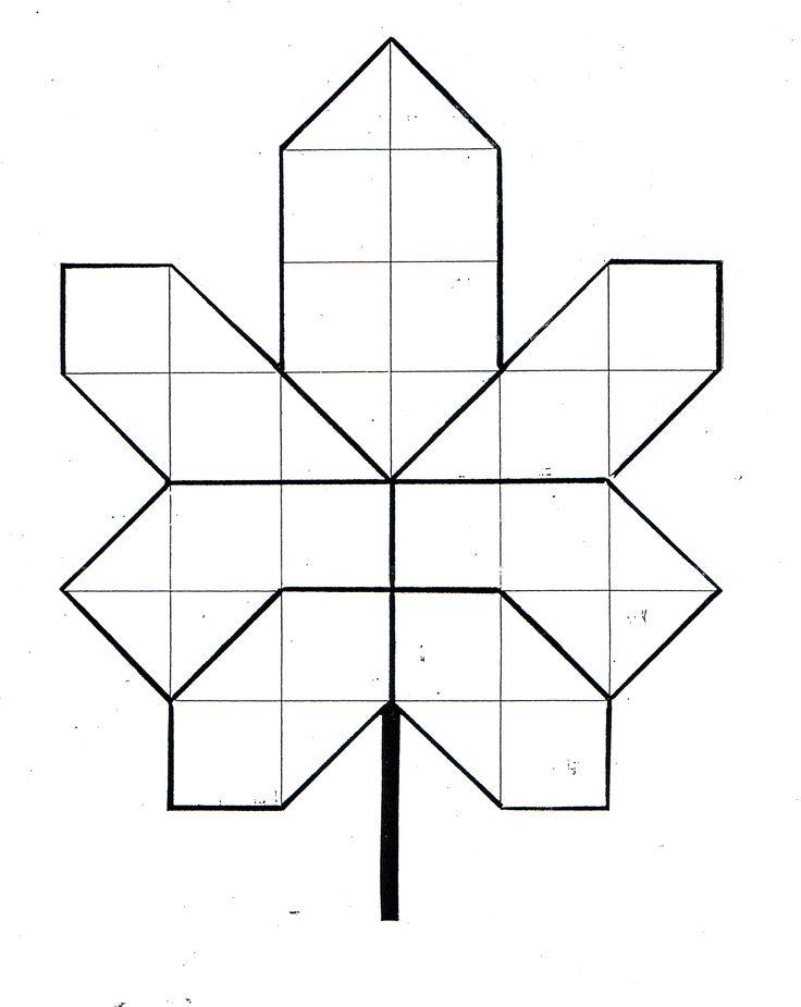 Herfstblad mozaïek - mal  Rekenopdracht: wat is de oppervlakte van dit blad? Wat is de omtrek?
