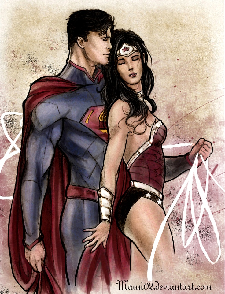 Wonder superman naked having woman sex