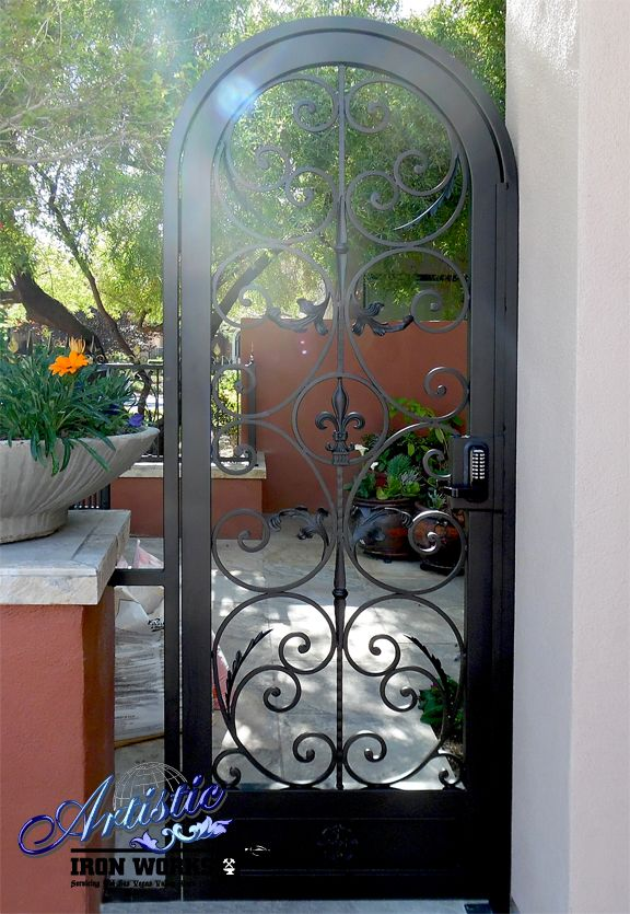 Arched Fleur De Lis Wrought Iron Gate Wrought Iron Doors