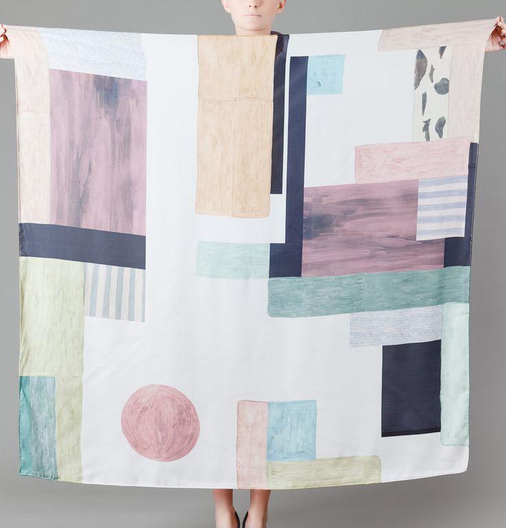 Milleneufcentquatrevingtquatre Multicolor Dancing Silk Square on sale at L'Exception