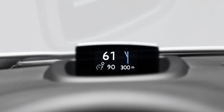 Colour Head-up Display of the #Peugeot508