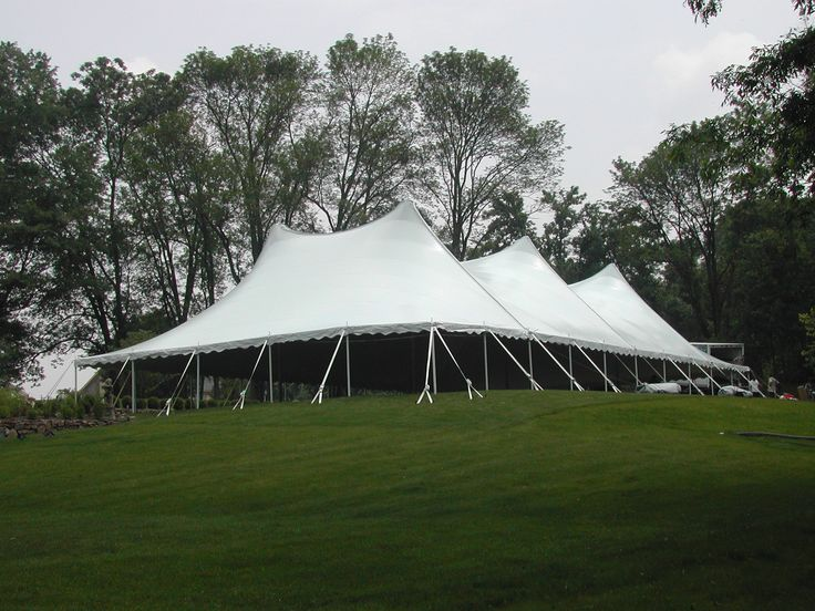 There is something so fun and fancy about a high-peak white tent. What : special event tents - memphite.com
