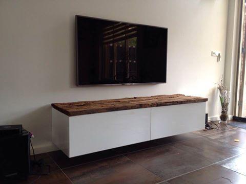tv meubel 300cm breed wit houten blad - Google zoeken