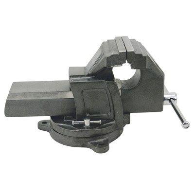 Etau COGEX Pro - Ouverture max. : 100mm - Base tournante 3 fixations - Mors striés en acier traité interchangeable - Table de dessage.