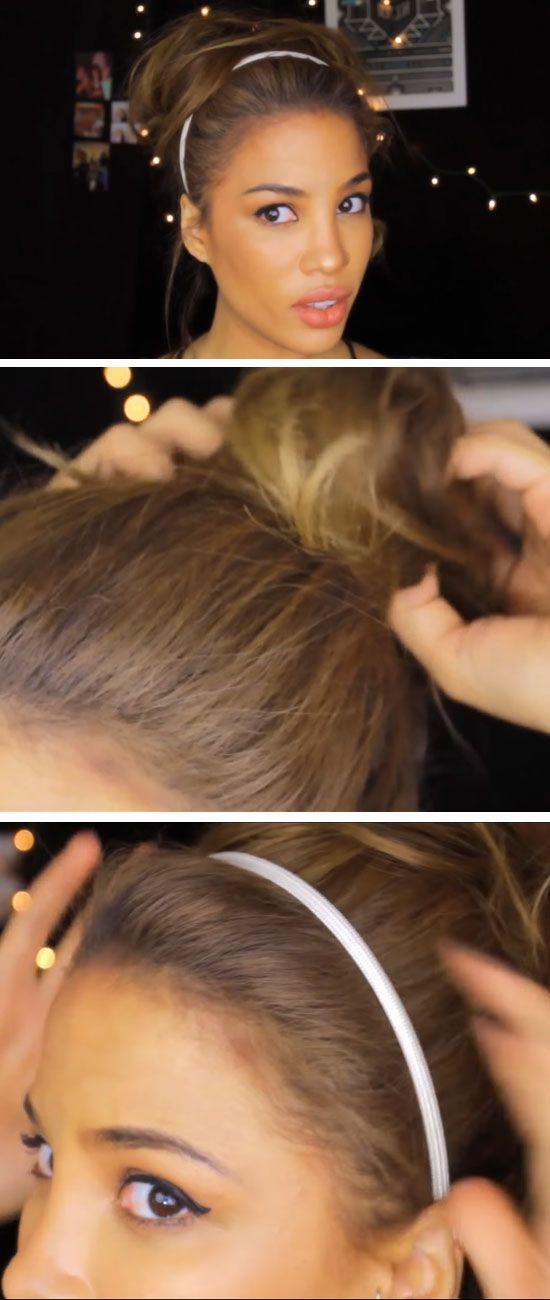 Messy Updo | 17 DIY Holiday Hairstyles for Medium Hair