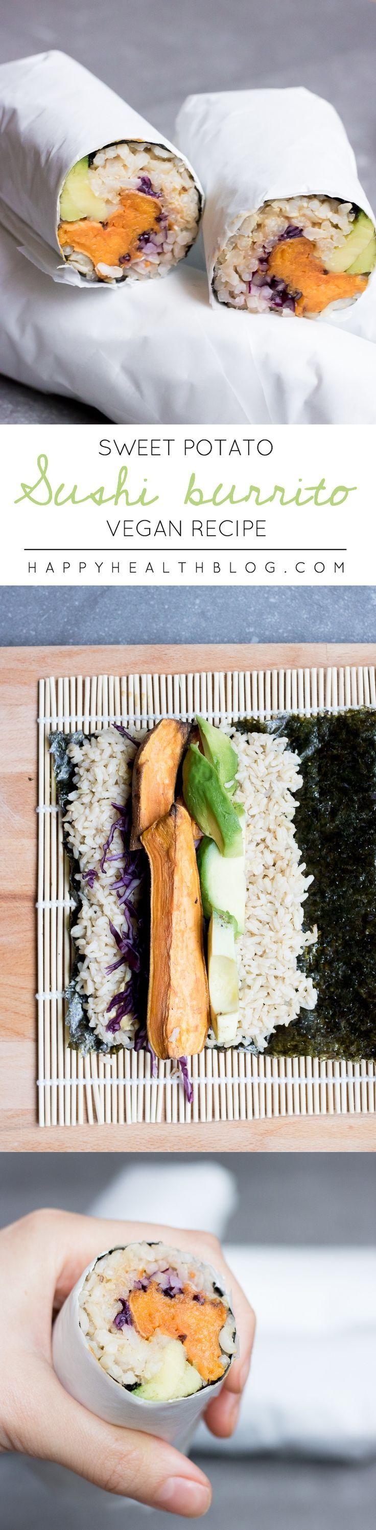 SWEET POTATO SUSHI BURRITO - healthy, vegan, clean, recipe, organic…